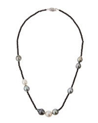 Belpearl Pearl And Spinel Beaded Necklace Women's