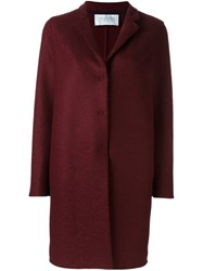 Harris Wharf London Snap Button Coat Red