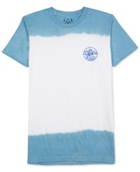 Jem Men's Cali Native Dip Dyed Graphic Print T Shirt Blue