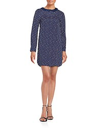 Zadig And Voltaire Rive Print Long Sleeve Dress Navy