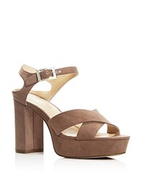 Charles By Charles David Mayor Platform Sandals Compare At 99 Dark Taupe