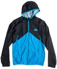 Quiksilver New Wave Windbreaker Jacket Neon Blue