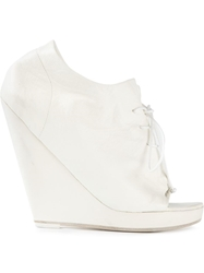 Marsell Marsell Wedge Lace Up Booties White