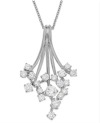 Effy Collection Classique By Effy Diamond Waterfall Pendant Necklace In 14K White Gold 3 4 Ct. T.W.