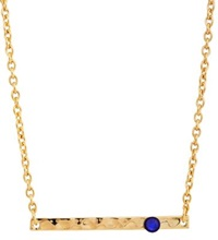 Chamak By Priya Kakkar Thin Bar Pendant Necklace Gold