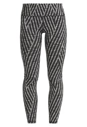 Gap Tights Grey Multi Stripe Dark Grey