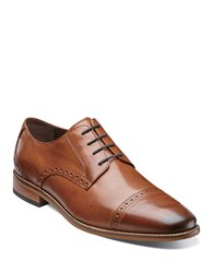 Florsheim Castellano Leather Brogue Oxfords Tan