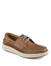 Sperry Gamefish Leather 3 Eye Boat Shoes Tan