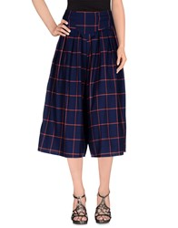 Cutie Skirts 3 4 Length Skirts Women Dark Blue