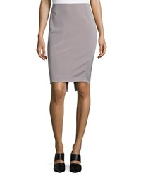 Escada Mid Rise Pencil Skirt Platinum White