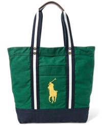 Polo Ralph Lauren Men's Big Pony Canvas Tote Bag Forest Green
