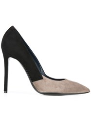 Pollini Bicolour Pumps Black