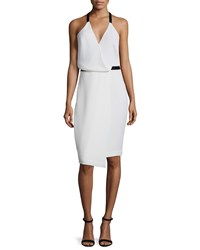 Camilla And Marc Sleeveless Faux Wrap Dress White Women's