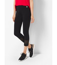 Active Cropped Stretch Cotton Leggings