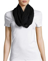 Steve Madden Open Knit Loop Scarf Black