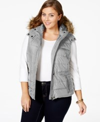 American Rag Plus Size Faux Fur Trim Puffer Vest Only At Macy's Cinder