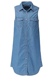 Evenandodd Denim Dress Light Blue Denim