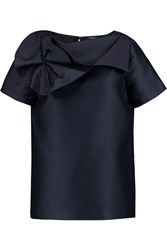 Raoul Asheville Gathered Wool And Silk Blend Top Blue