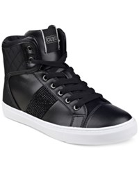Guess Women's Jaela High Top Lace Up Sneakers Women's Shoes Black