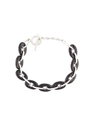 Henson 'Horn Links' Bracelet Black