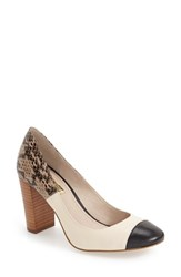 Louise Et Cie Women's 'Jakleen' Cap Toe Pump Oxford Black Buttercream
