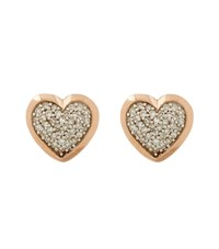 Links Of London Diamond Essentials Pave Diamond Heart Earrings Female