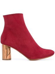 Proenza Schouler Chunky Heel Ankle Boots Red