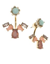 Marchesa Multicolored Crystal Floater Earrings Gold