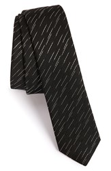 The Kooples 'New Line' Silk Jacquard Tie Black 28