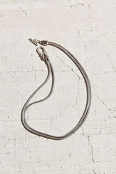 Urban Outfitters Double Snake Chain Short Necklace Silver