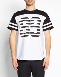 Carhartt White And Black 89 State Print Two Tone Round Neck T Shirt