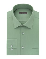 Geoffrey Beene Long Sleeve Point Collar Shirt Green
