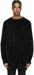 Diet Butcher Slim Skin Black Oversized Shaggy Pullover