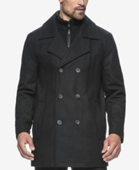 Marc New York Cheshire Wool Blend Bibby Peacoat Black