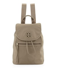 Slouchy Nylon Backpack Porcini Tory Burch