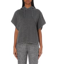 The Kooples Short Sleeved Jersey Hoody Grey