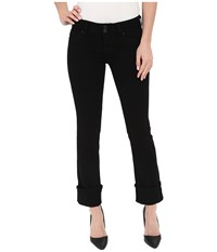 Hudson Ginny Crop Stratight With Cuff In Black Black Women's Jeans