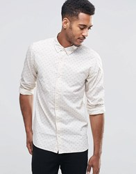 Jack And Jones Jack And Jones Long Sleeved Shirt With Bird Print White