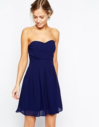 Tfnc Prom Dress In Pleated Chiffon Navy