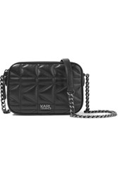 Karl Lagerfeld Kuilted Small Leather Shoulder Bag Black