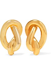 Kenneth Jay Lane Gold Plated Clip Earrings