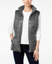 Styleandco. Style Co. Quilted Puffer Vest Only At Macy's Bold Grey