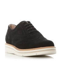 Dune Feathers Lace Up Brogues Black Suede