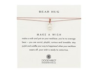Dogeared Bear Hug Make A Wish Thread Necklace Sterling Silver Tobacco Necklace