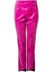 Toga Asymmetric Hem Trousers Pink And Purple