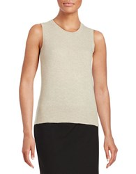 Lord And Taylor Cashmere Sweater Vest Stone Heather