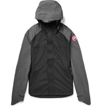 Canada Goose Alderwood Hooded Waterproof Shell Jacket Black