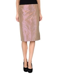 Antonio Fusco Knee Length Skirts Light Brown