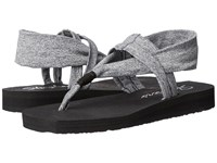 Skechers Meditation Studio Kicks Grey Women's Sandals Gray