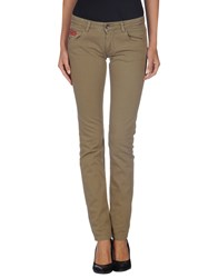 Unlimited Denim Denim Trousers Women Khaki